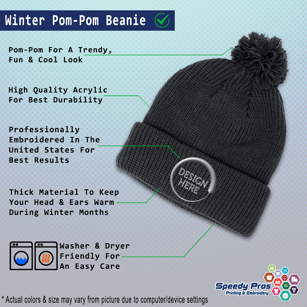 thumbnail 9 - Pom Pom Beanies for Women Western Horse Saddle Winter Hats for Men Skull Cap