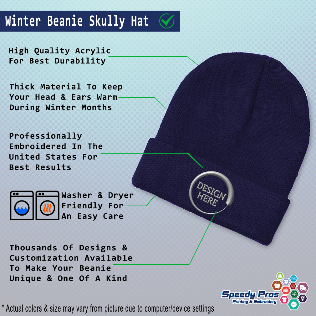 thumbnail 11 - Beanies for Men Deputy Chief Gray Embroidery Winter Hats Women Acrylic Skull Cap