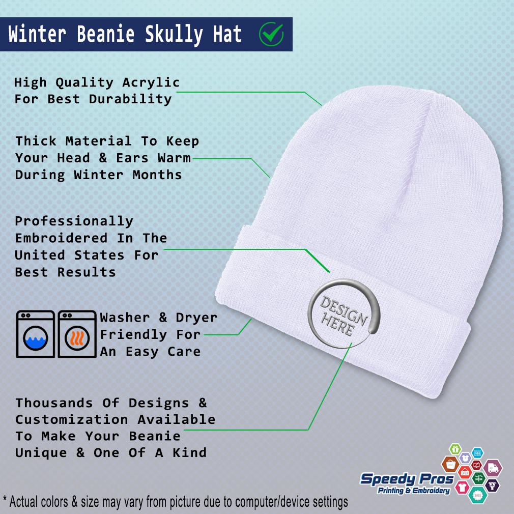 thumbnail 19 - Beanies for Men Deputy Chief Gray Embroidery Winter Hats Women Acrylic Skull Cap
